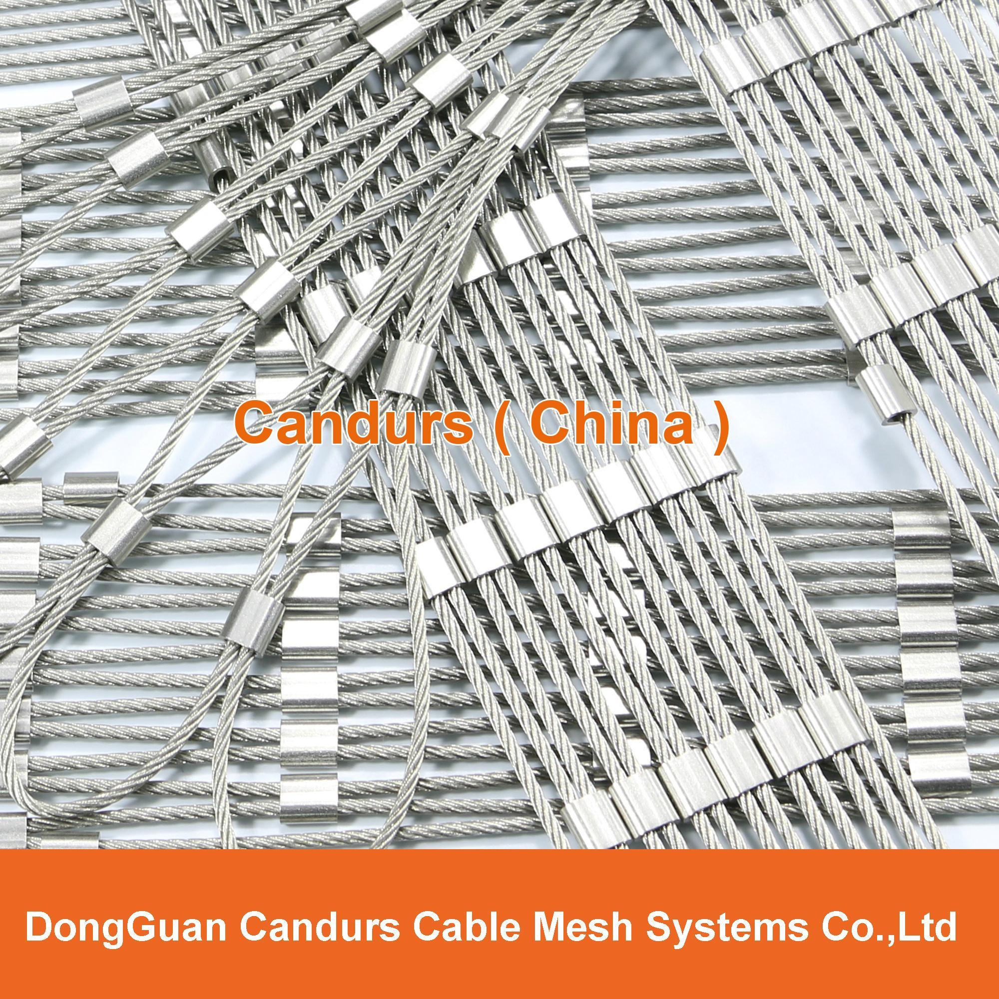 供應不鏽鋼壓扣鋼絲繩網 20