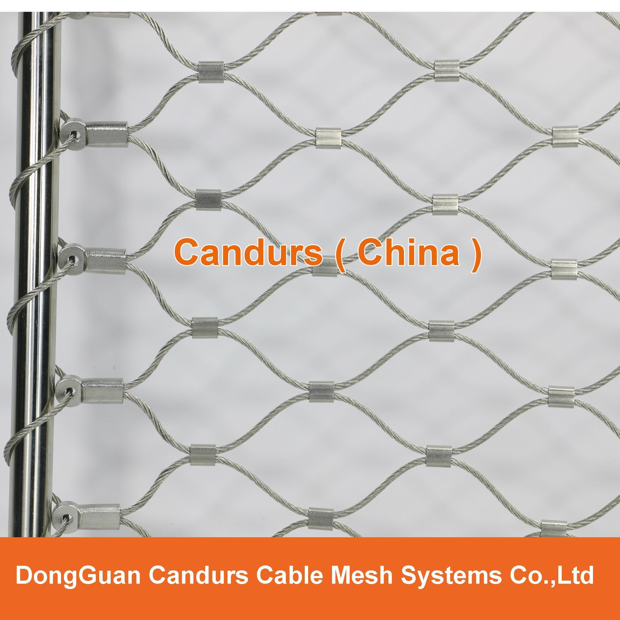 不鏽鋼絲繩欄杆扶手填充網 1