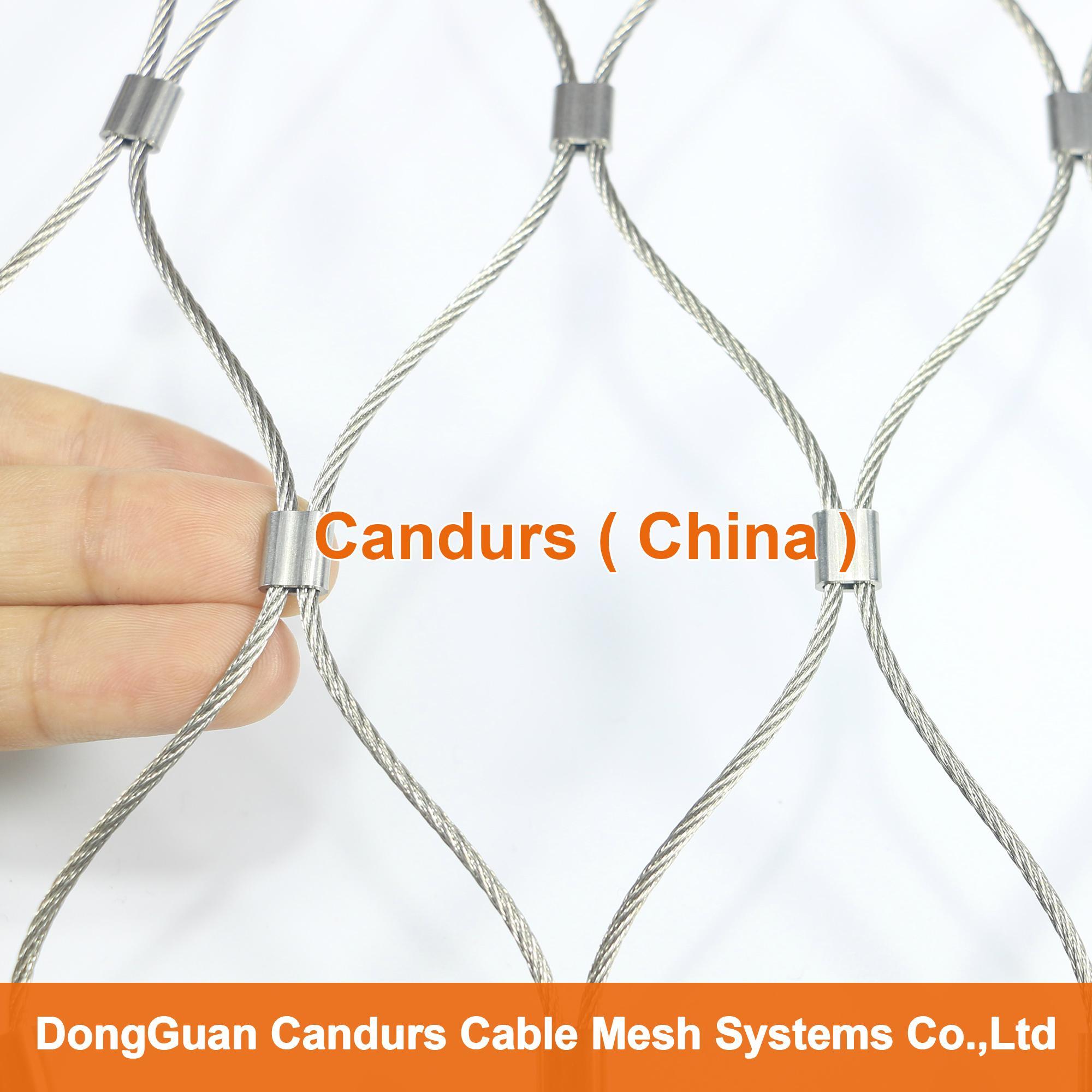 新型不鏽鋼絲繩夾扣網 1
