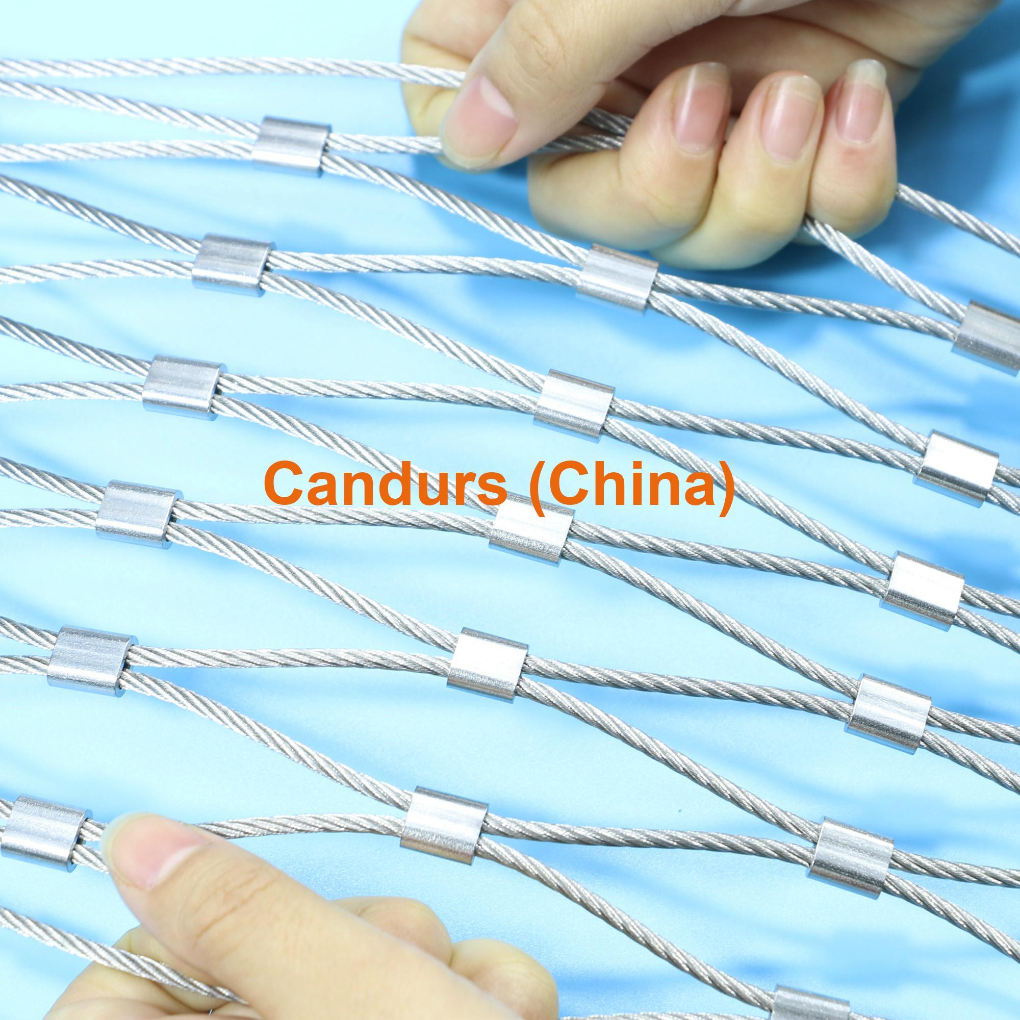 新型不鏽鋼絲繩夾扣網 2