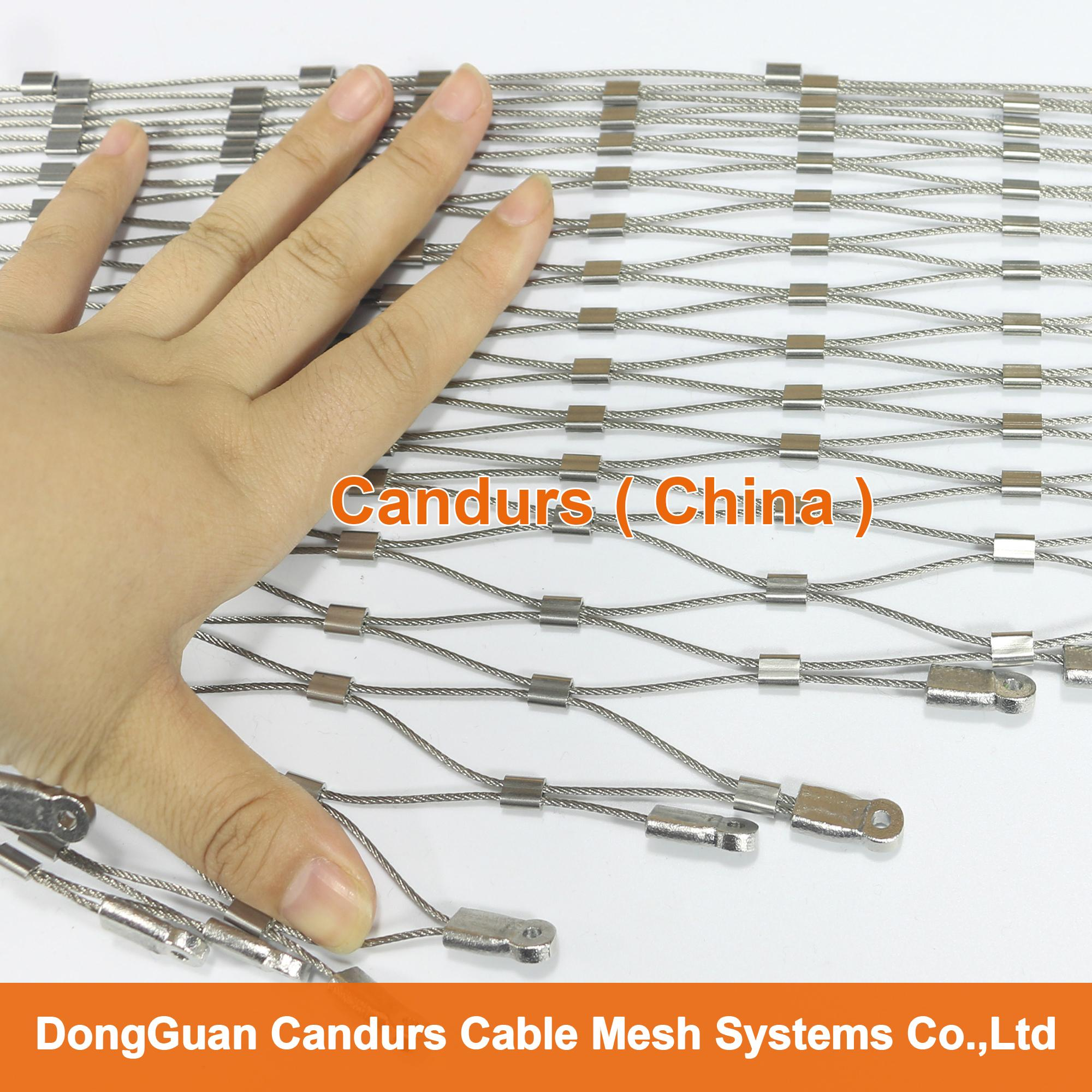 Stainless Steel Wire Distributors : Outdoor stainless steel wire mesh fence panel decorrope