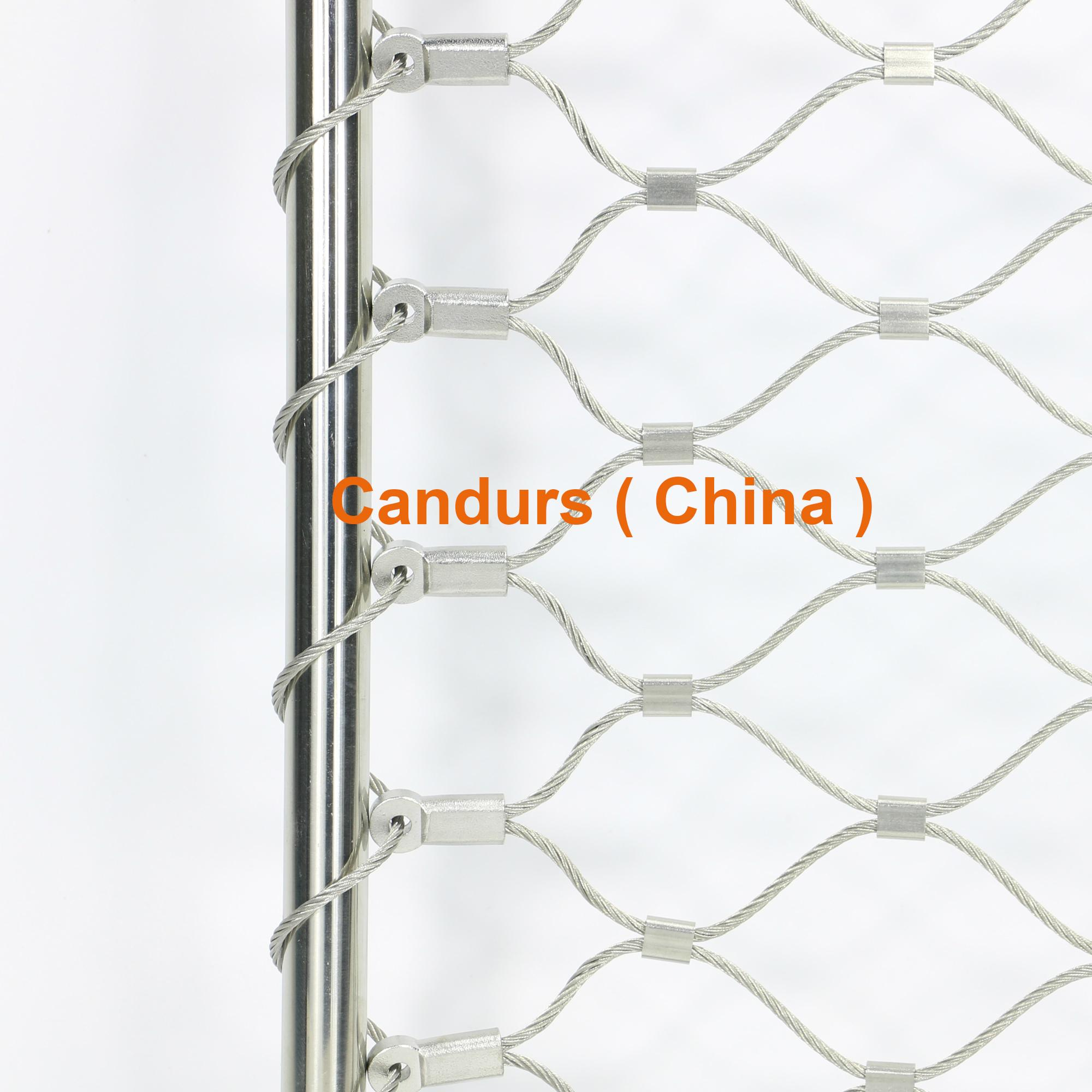 Diamond ferruled stainless steel wire rope cable handrail