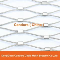 不鏽鋼卡扣鋼絲繩網片