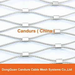 Flexible Stainless Steel Wire Rope Ferruled Mesh