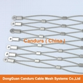1.5毫米不鏽鋼絲繩扣網護欄 5