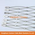 1.5毫米不锈钢丝绳扣网护栏 5