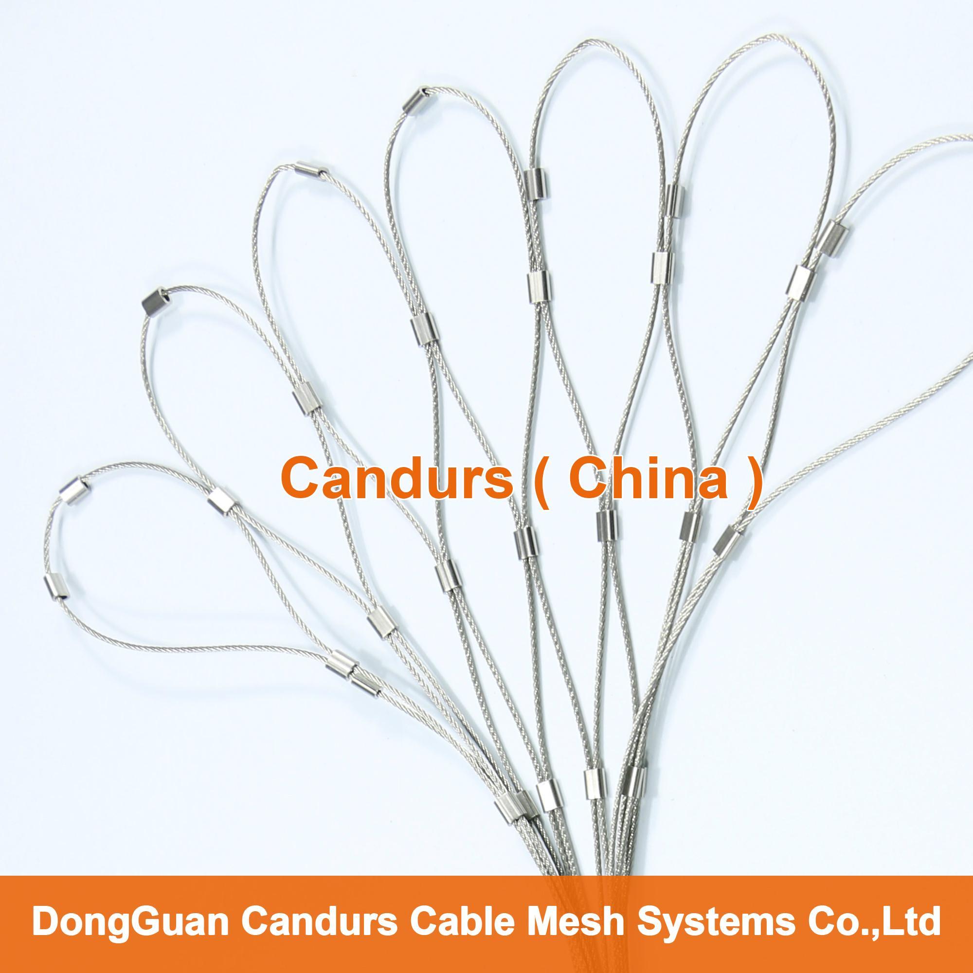 1.5毫米不锈钢丝绳扣网护栏 7