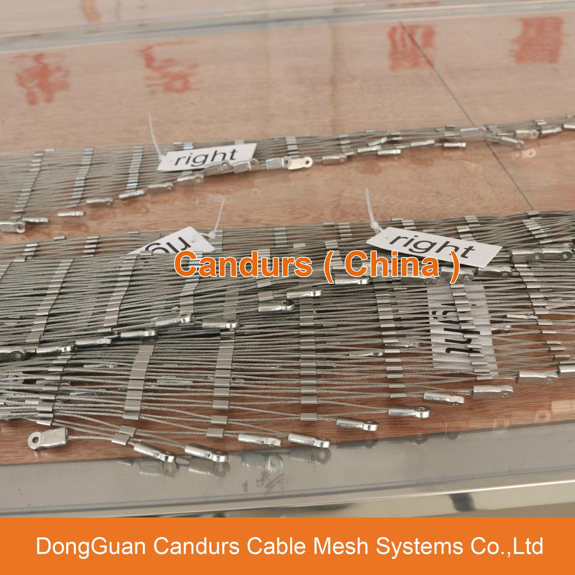 1.5毫米不鏽鋼絲繩扣網護欄 9