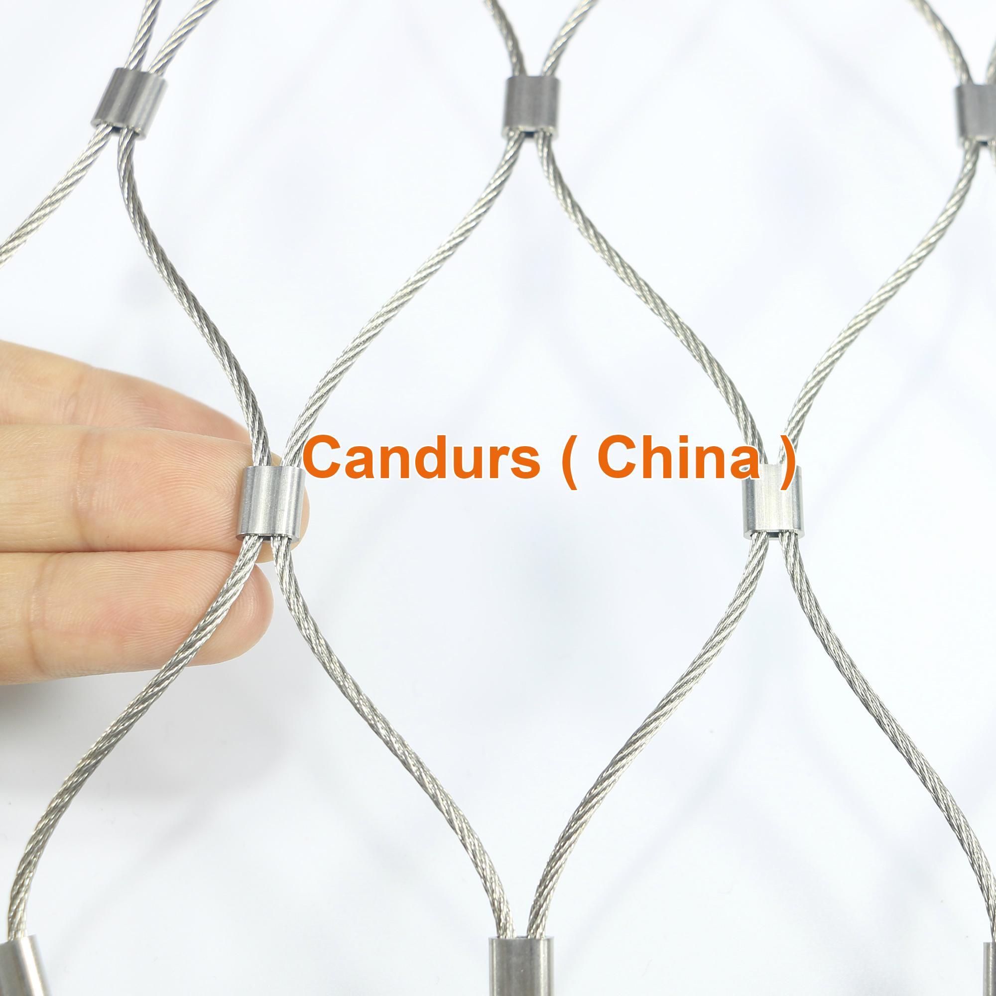 1.5毫米不锈钢丝绳扣网护栏 10