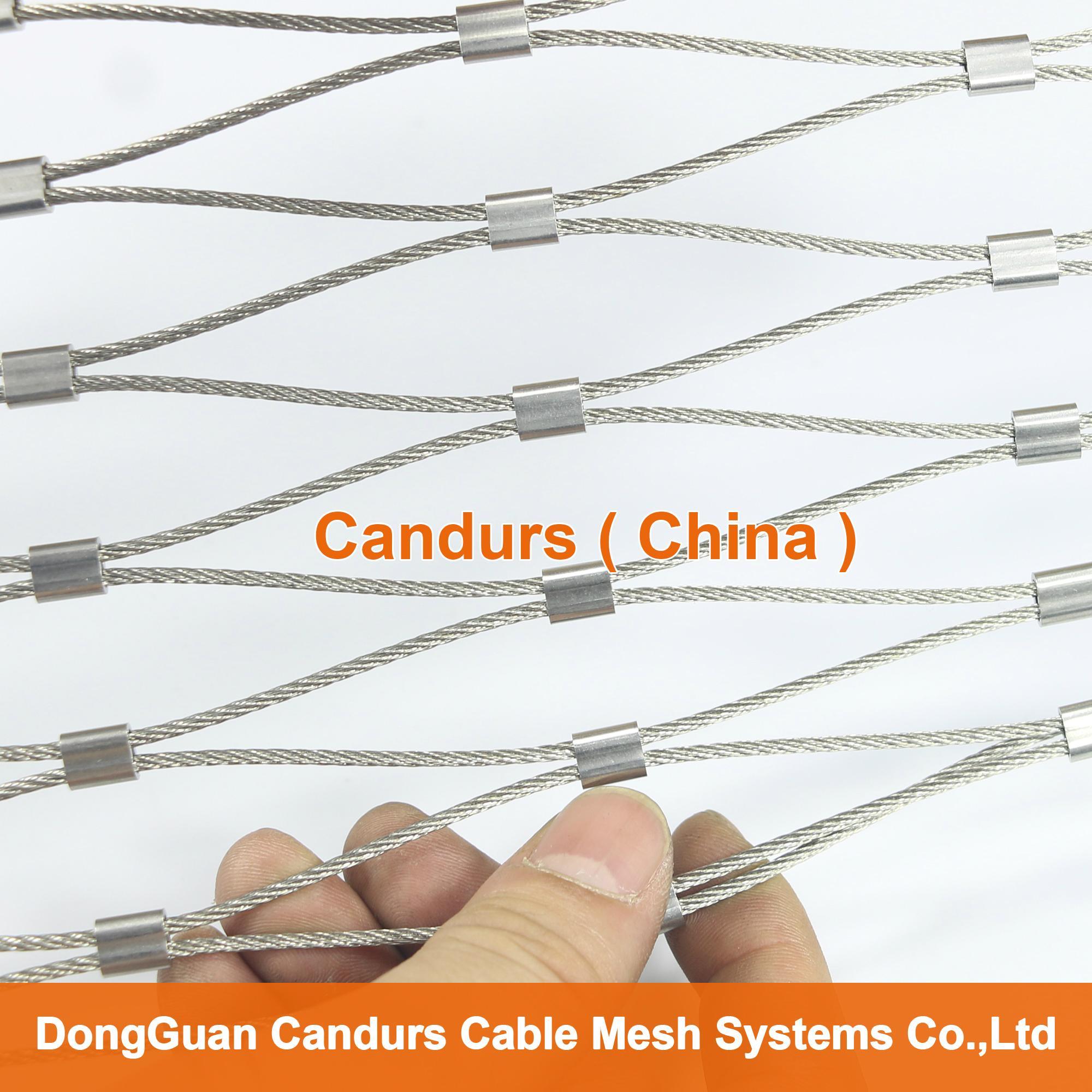 1.5毫米不锈钢丝绳扣网护栏 1