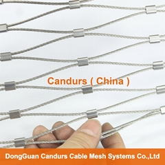 1.5毫米不鏽鋼絲繩扣網護欄