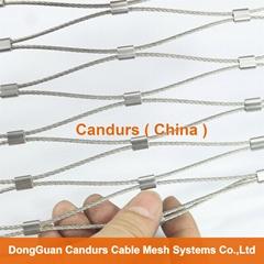 1.5毫米不锈钢丝绳扣网护栏