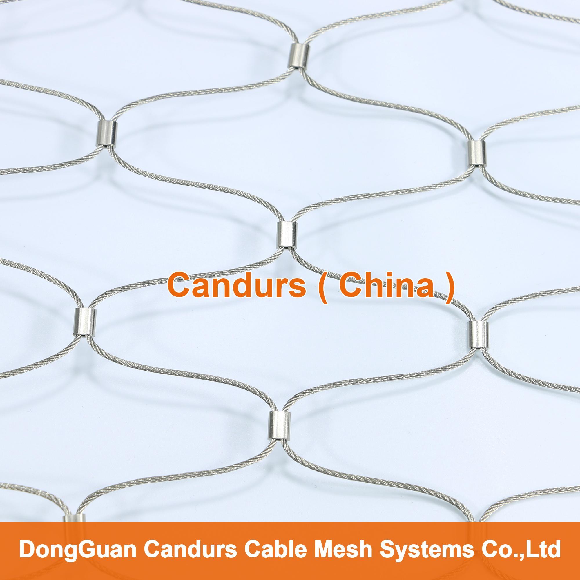 1.5毫米不锈钢丝绳扣网护栏 15