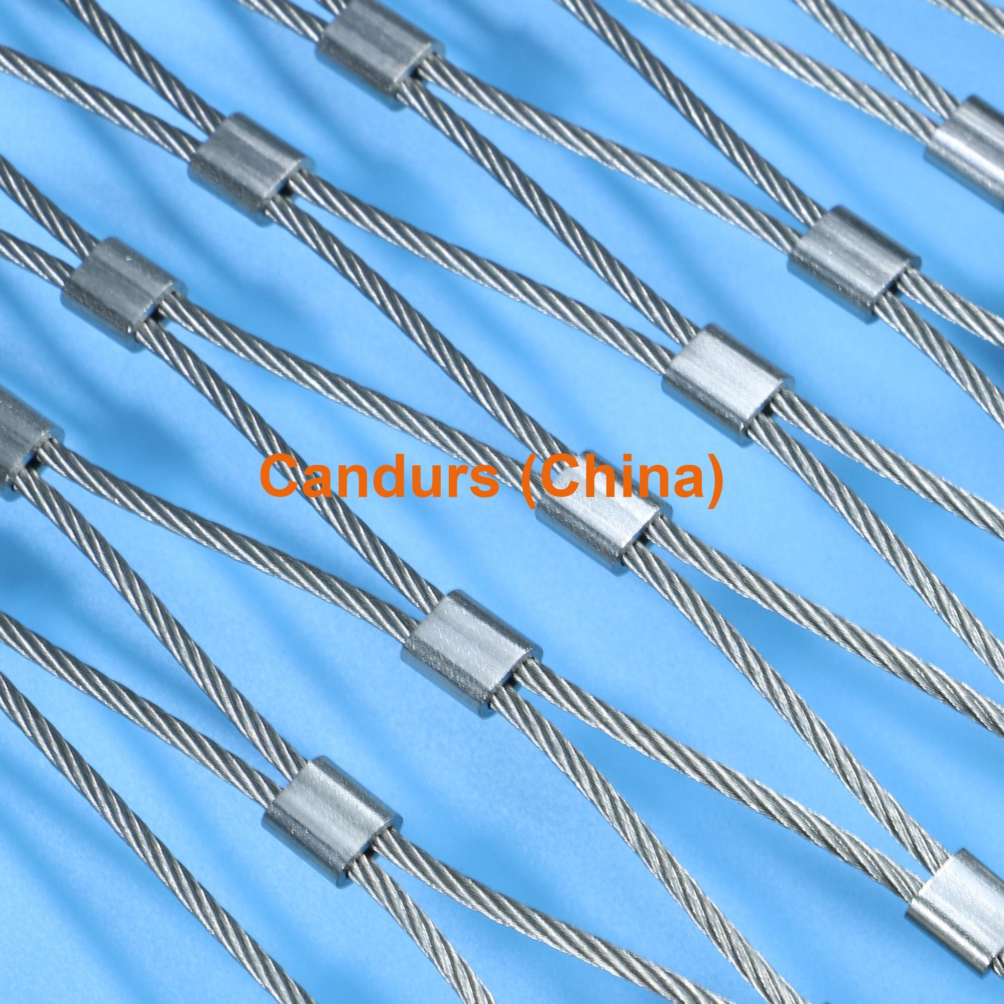 1.5毫米不鏽鋼絲繩扣網護欄 19