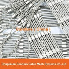 安全防護鋼絲繩壓扣網