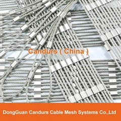 High Security Wire Rope Ferrule Mesh