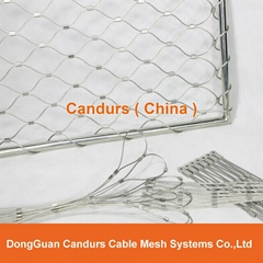 Flexible Stainless Cable Diamond Architectural Mesh