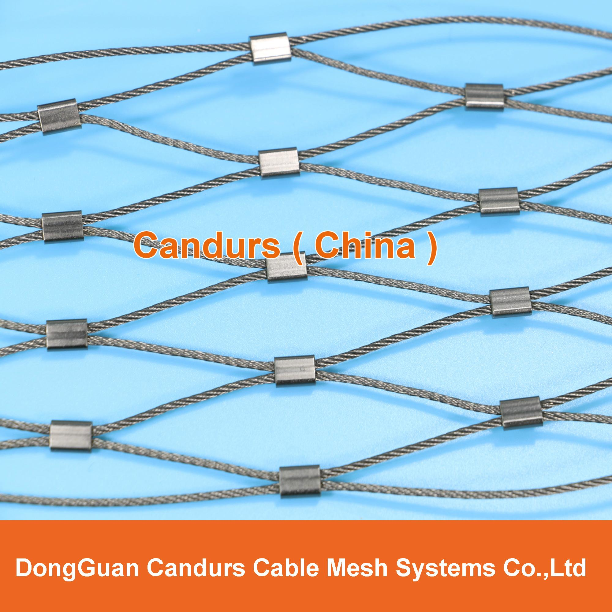 D architectural flexible stainless steel cable ferruled
