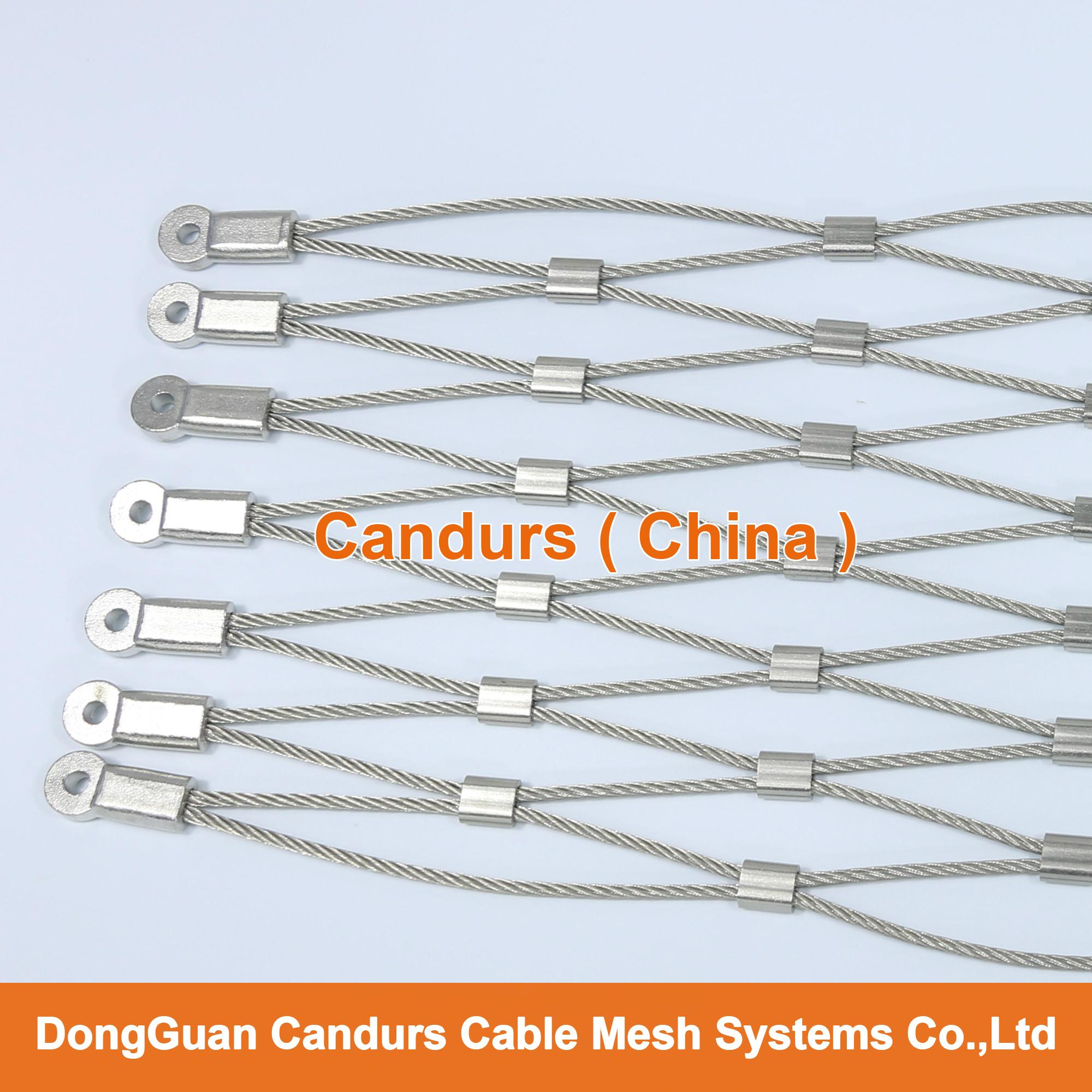 Flexible Cable Manufacturer : Flexible stainless steel cable wire net decorrope