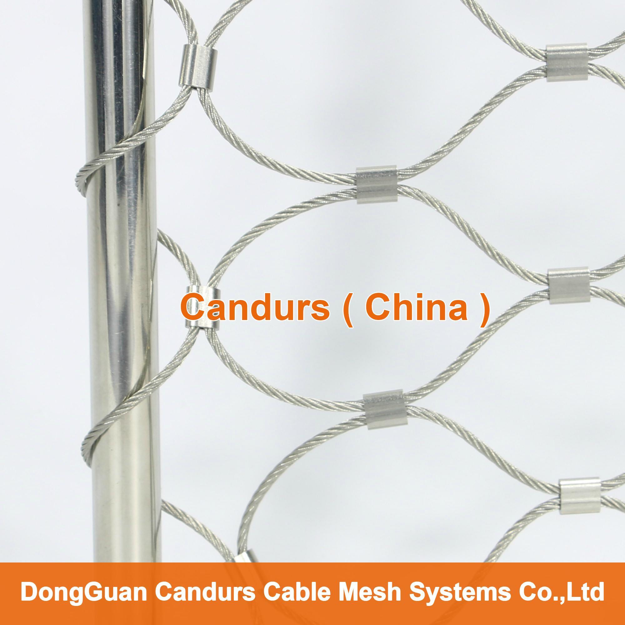 不锈钢绳建筑柔性防护网 10
