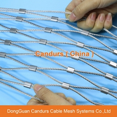 不锈钢绳建筑柔性防护网
