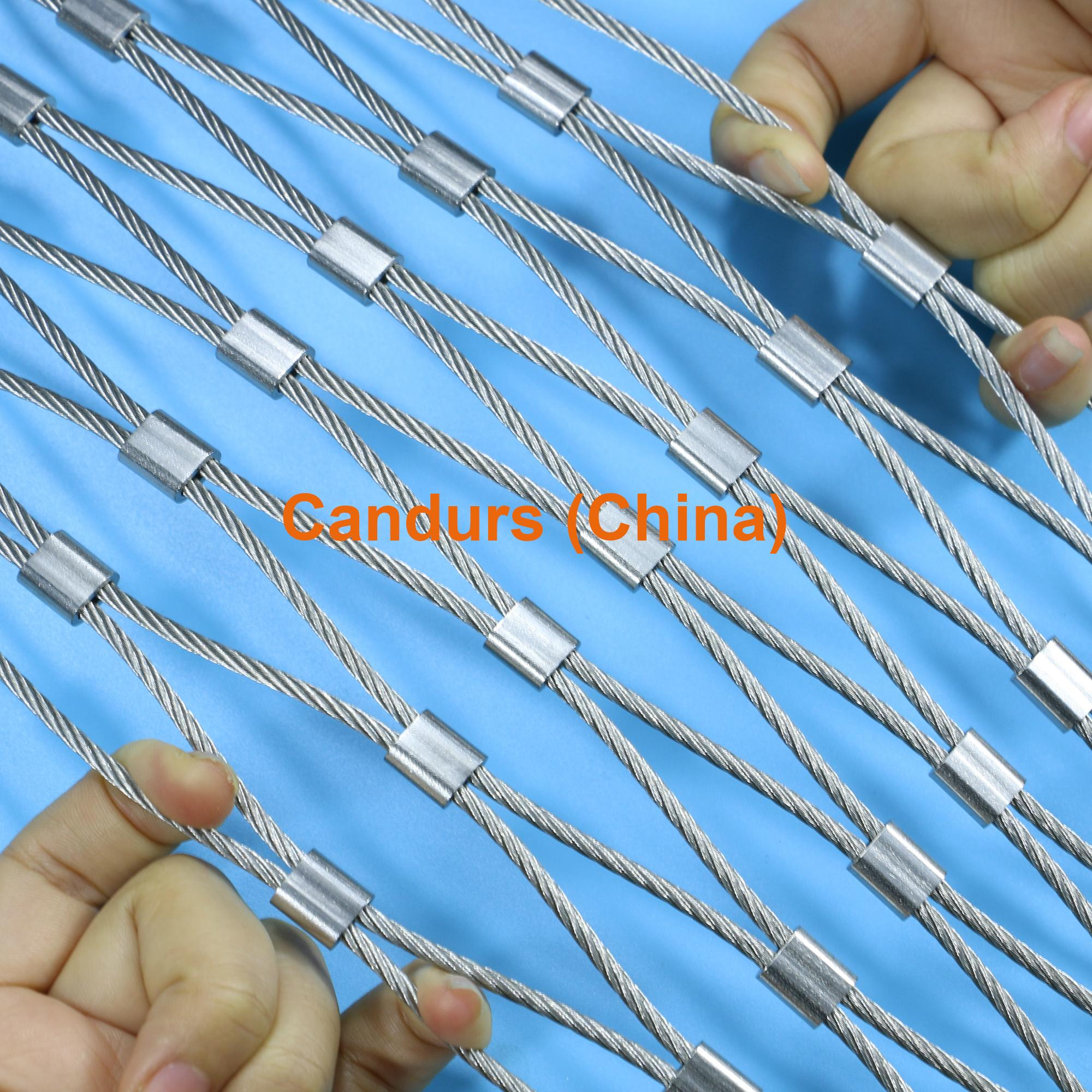 Stainless Steel Wire Product : Ferruled stainless steel wire rope zoo mesh decorrope