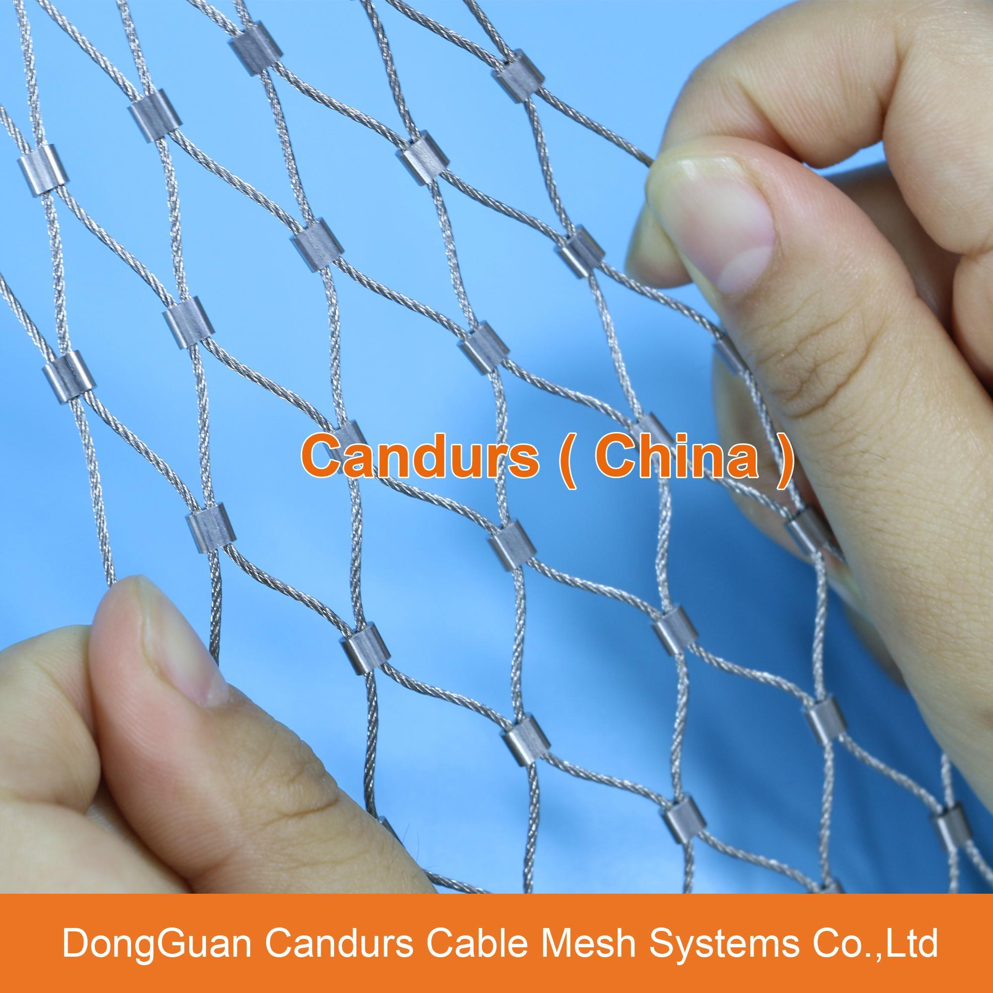 不锈钢绳楼梯防护网 2