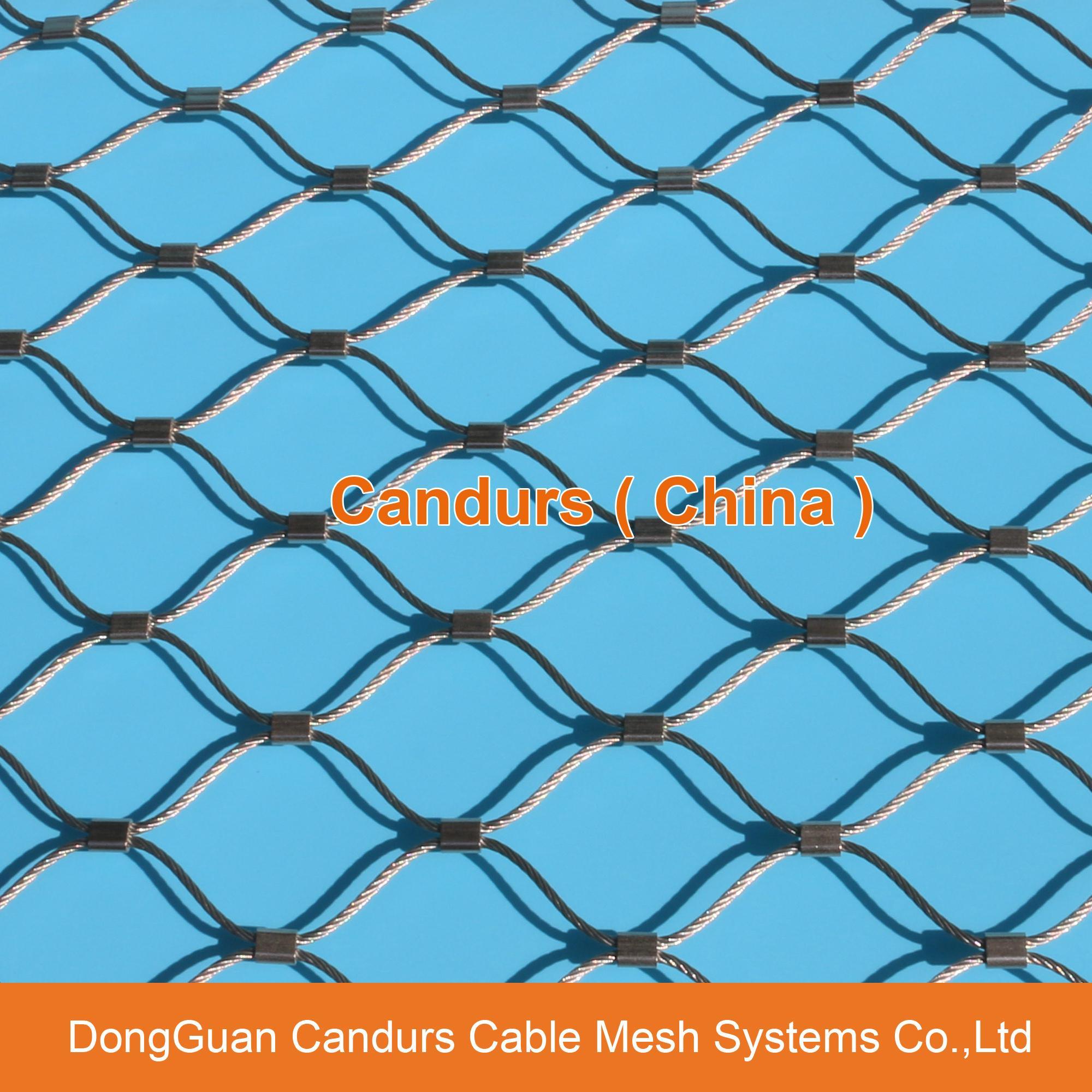 不锈钢绳楼梯防护网 4