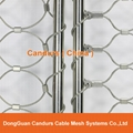 Ferruled Stainless Steel Cable Wire Rope Tiger Enclosure Mesh In Zoo