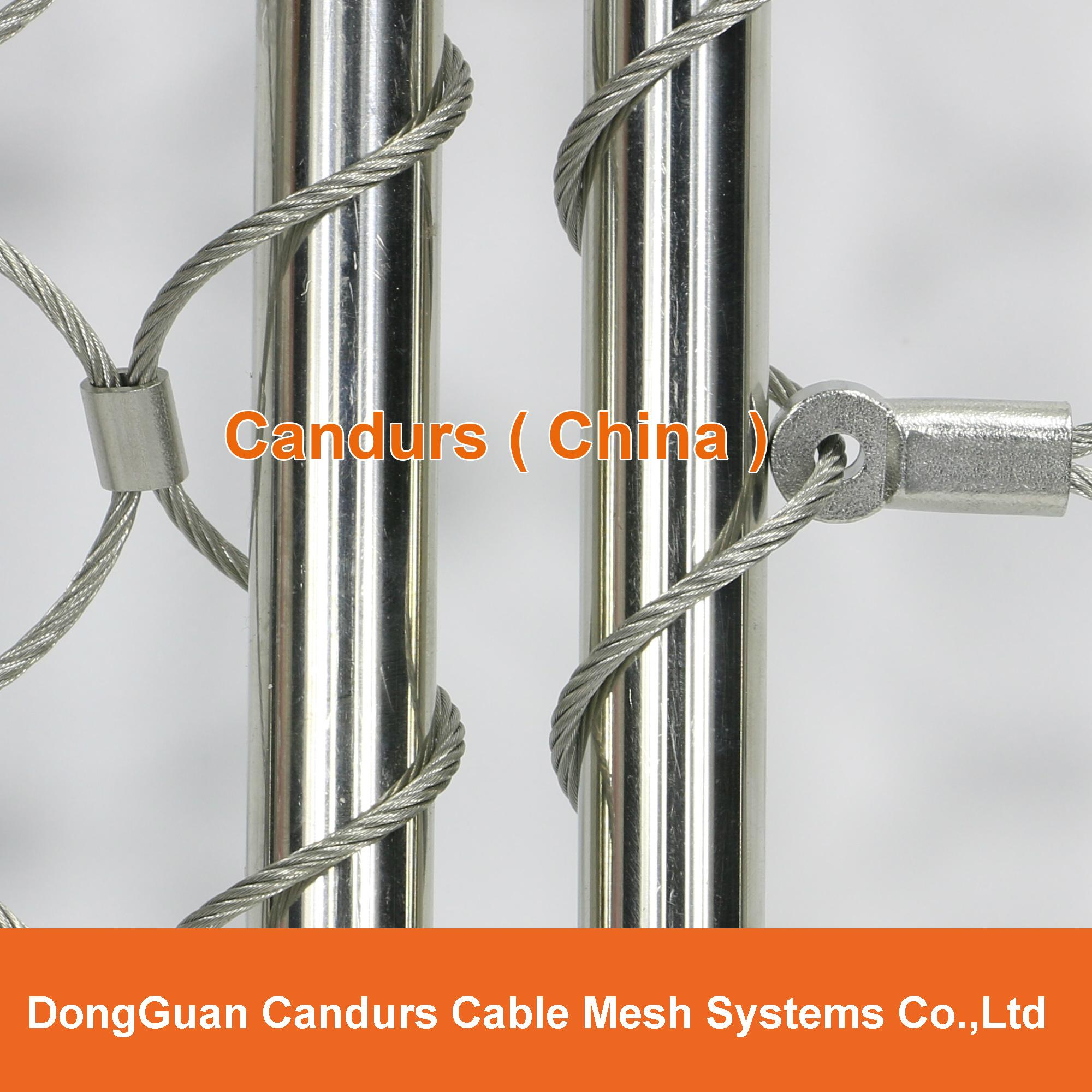 Stainless Steel Wire Product : Stainless steel wire rope mesh balustrade decorrope