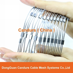 2 mm 200 mm x 350 mm Stainless Steel Wire Cable Sleeve Mesh