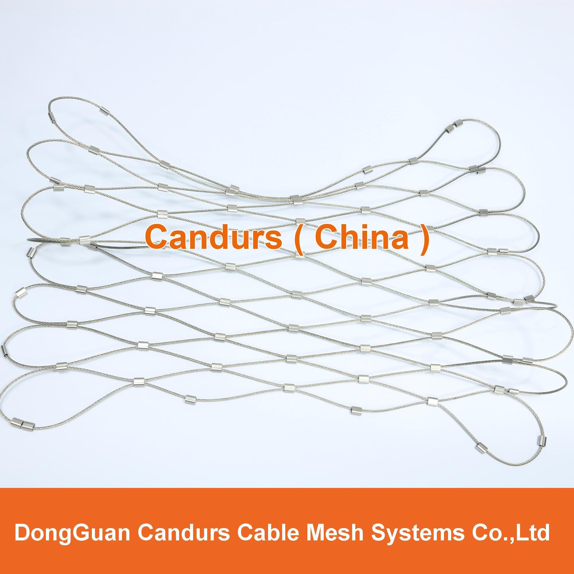 套环网-不锈钢丝绳套环网 15