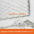 Architectural Ferruled Cable Diamond Rope Mesh Net