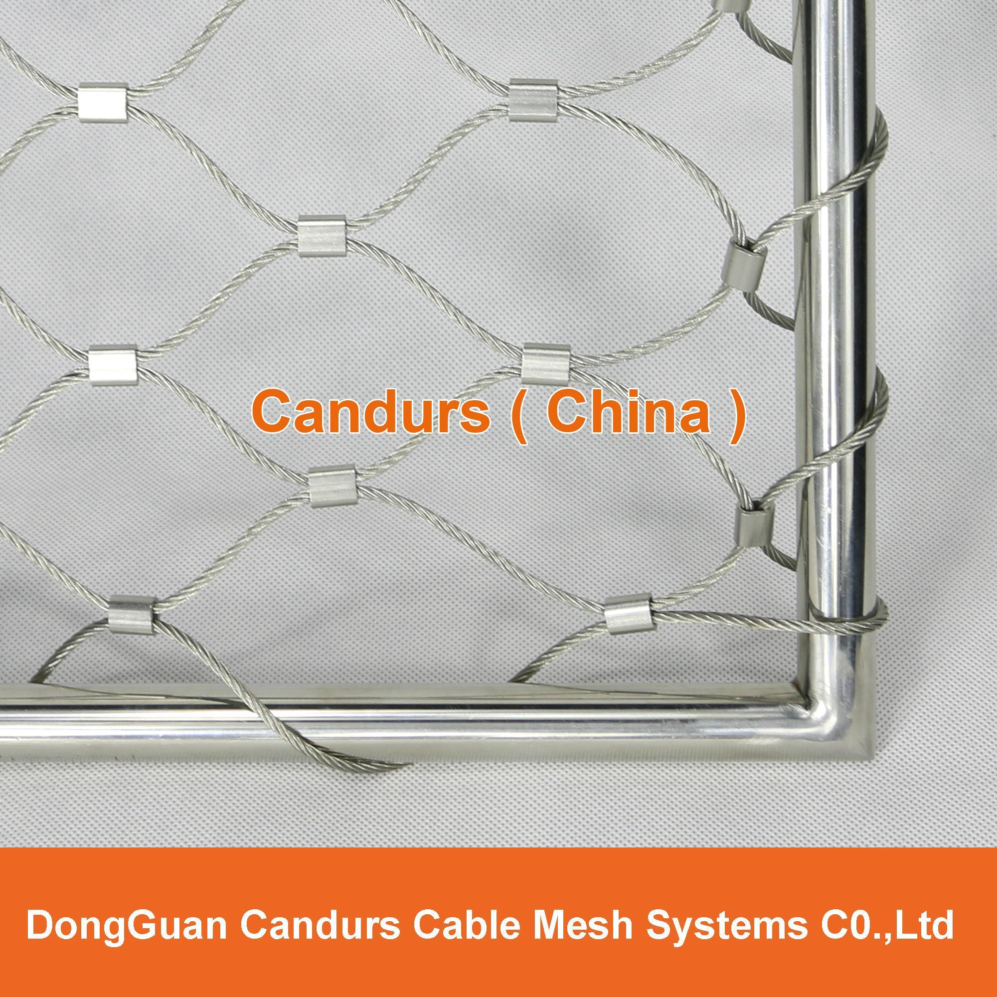屋顶安全防护不锈钢绳网 13