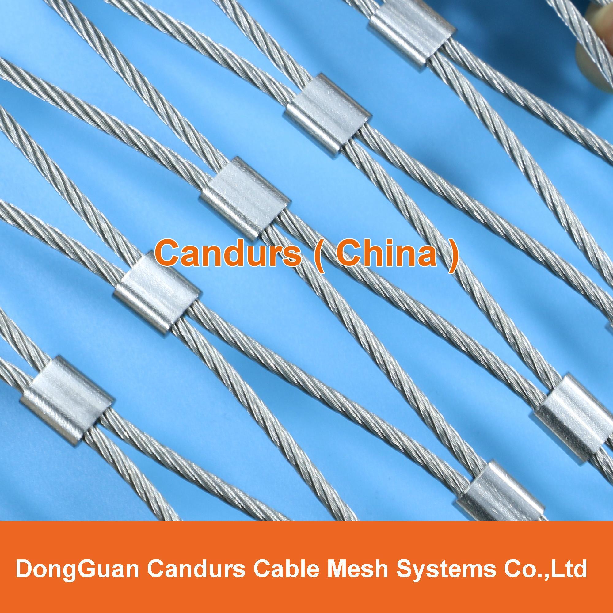 屋顶安全防护不锈钢绳网 1