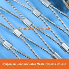 屋顶安全防护不锈钢绳网