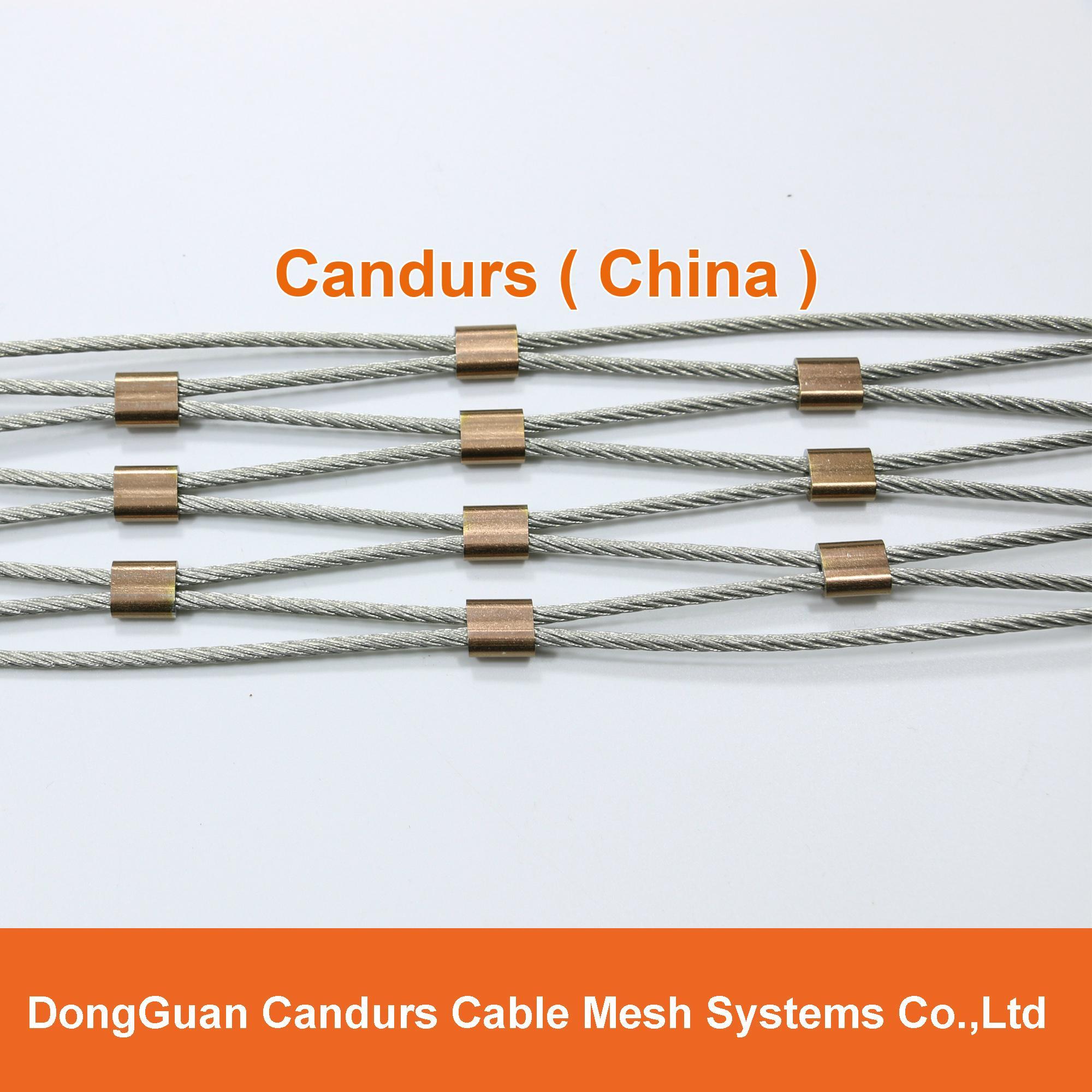 屋顶安全防护不锈钢绳网 16