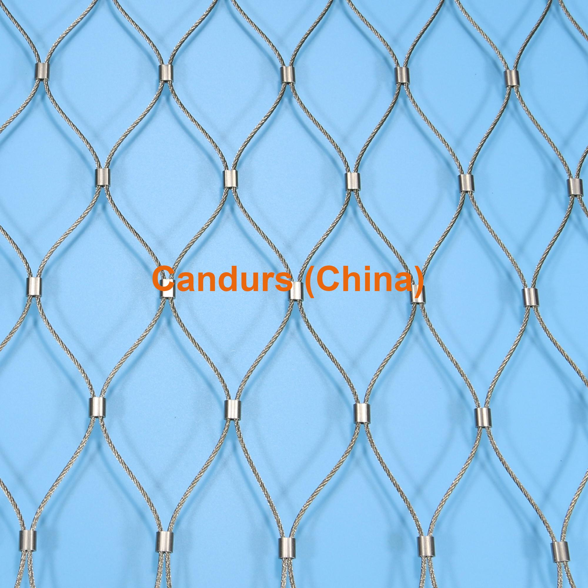 2.0mm 100 mm Mesh 316 Flexible Stainless Steel Wire Cable Mesh 8