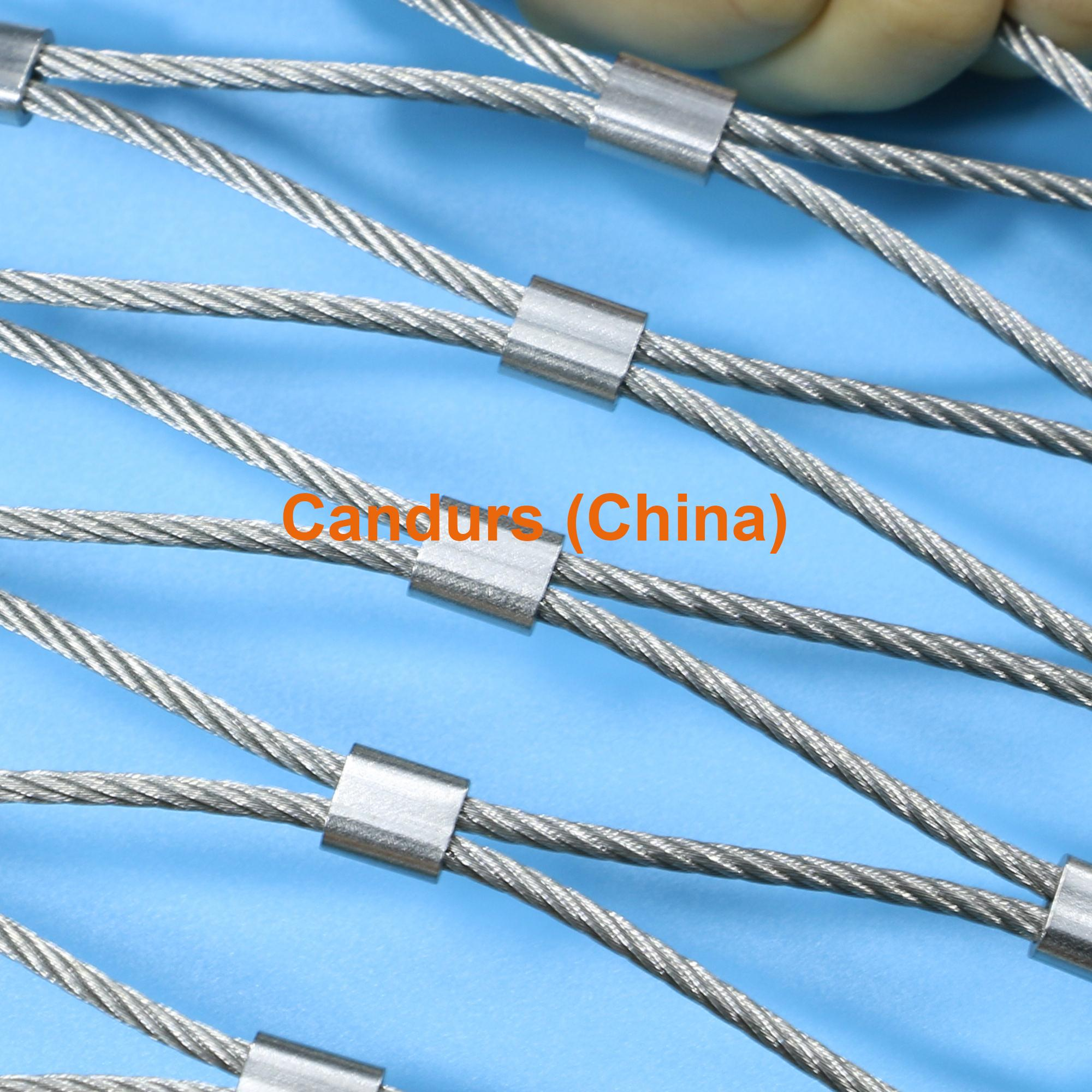 Flexible stainless steel wire cable mesh decorrope