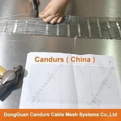 2.0mm 80mm x 140mm 316 不锈钢丝绳柔性网