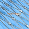 2.0mm 100 mm Mesh 316 Flexible Stainless Steel Wire Cable Mesh 19