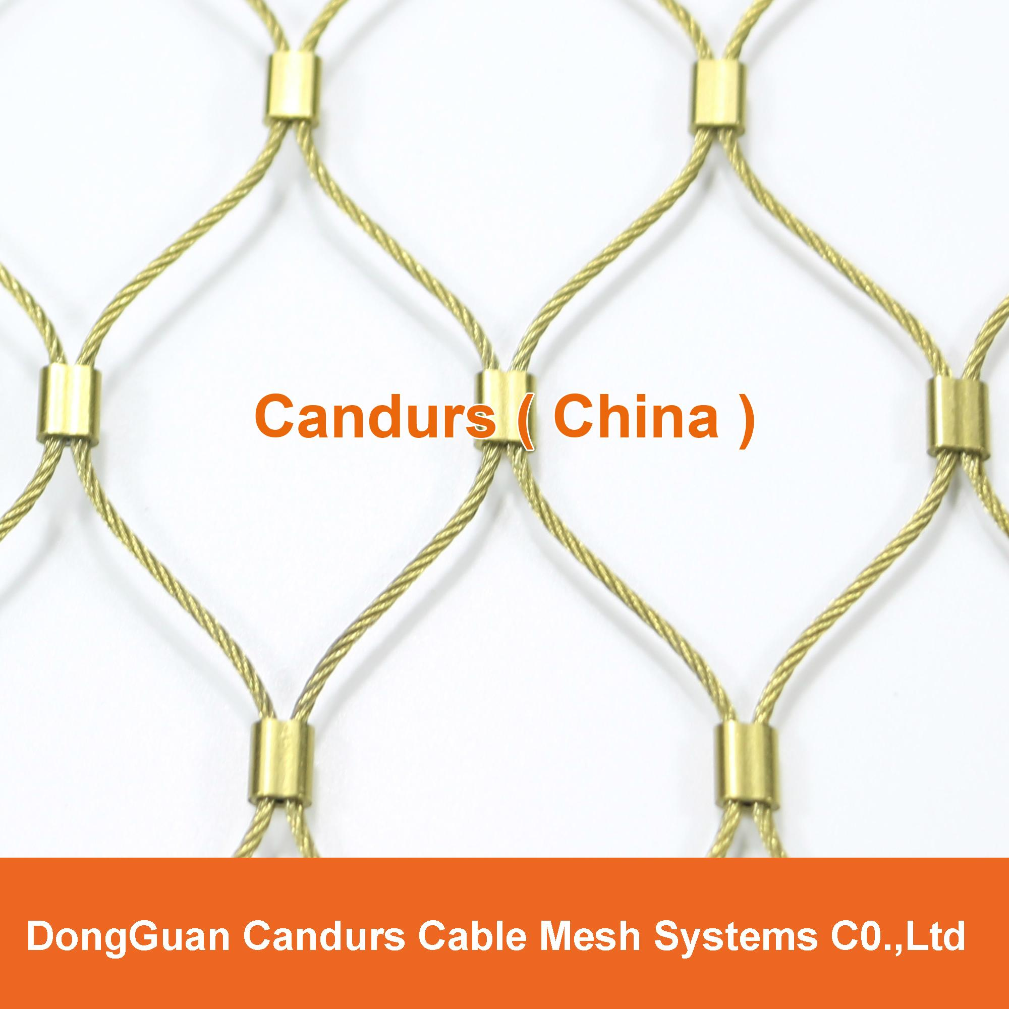 Flexible Stainless Steel Wire Rope(Cable) Mesh For Railing System 1
