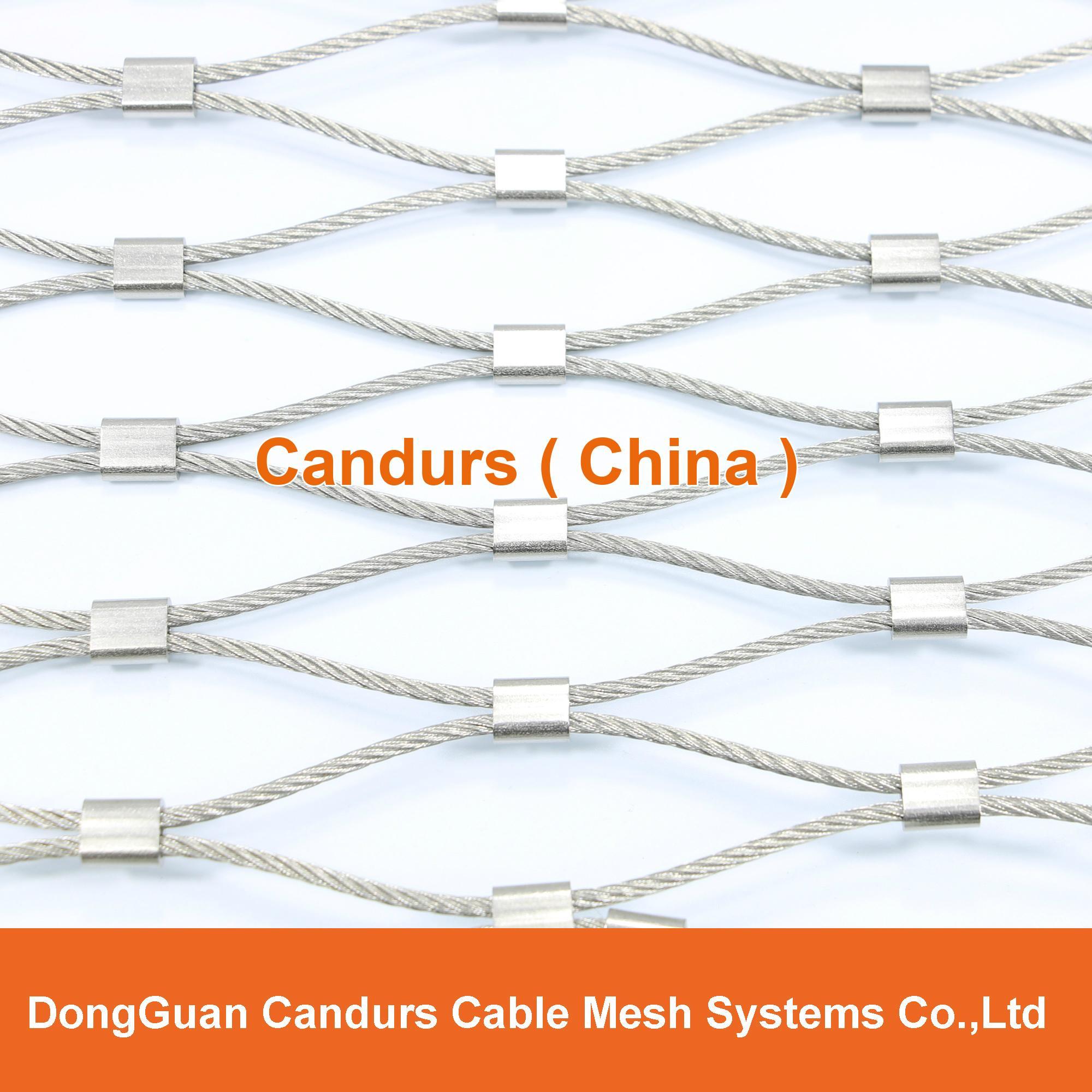 不锈钢丝绳菱形安全网 7