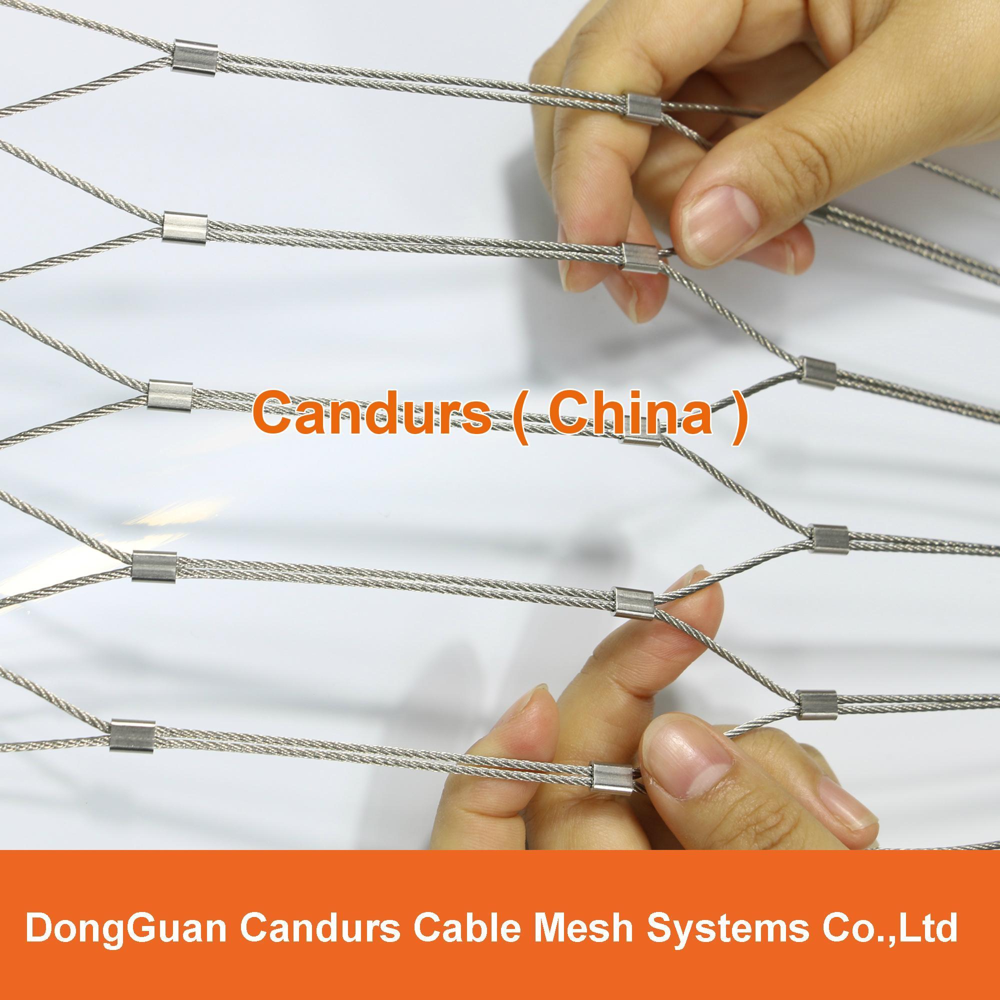 不鏽鋼絲繩菱形安全網 9