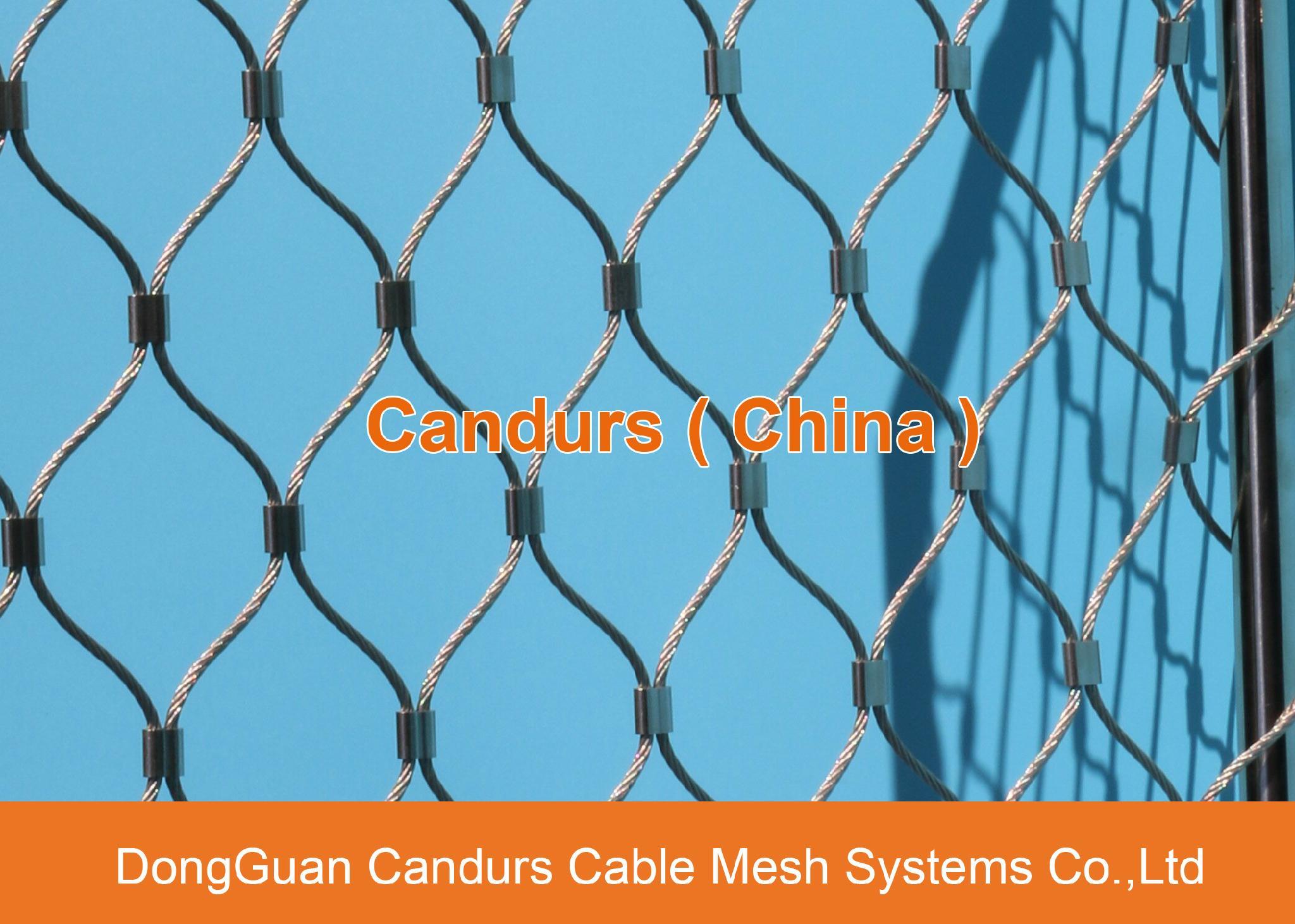 昌達環保無毒美標316不鏽鋼絲繩裝飾網 4