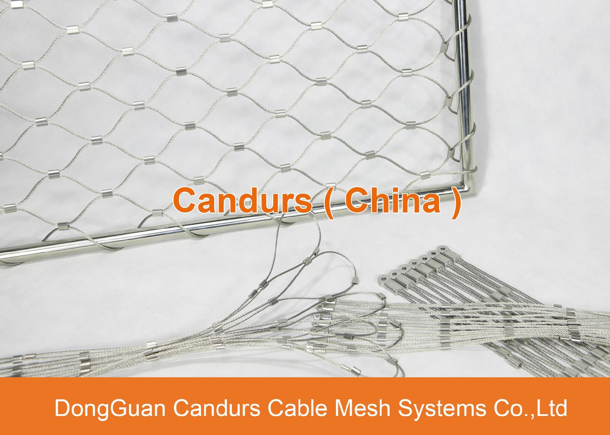 昌達環保無毒美標316不鏽鋼絲繩裝飾網 5