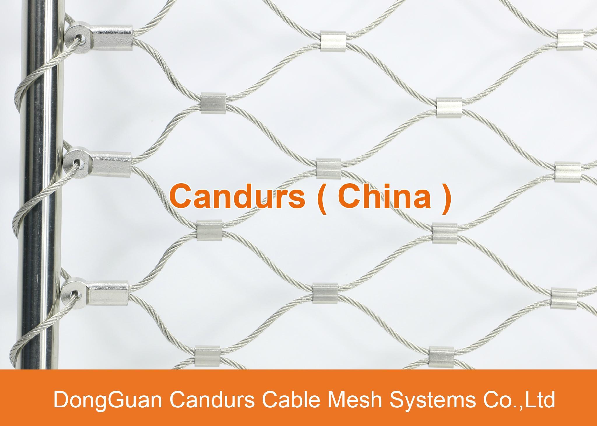 昌達環保無毒美標316不鏽鋼絲繩裝飾網 9