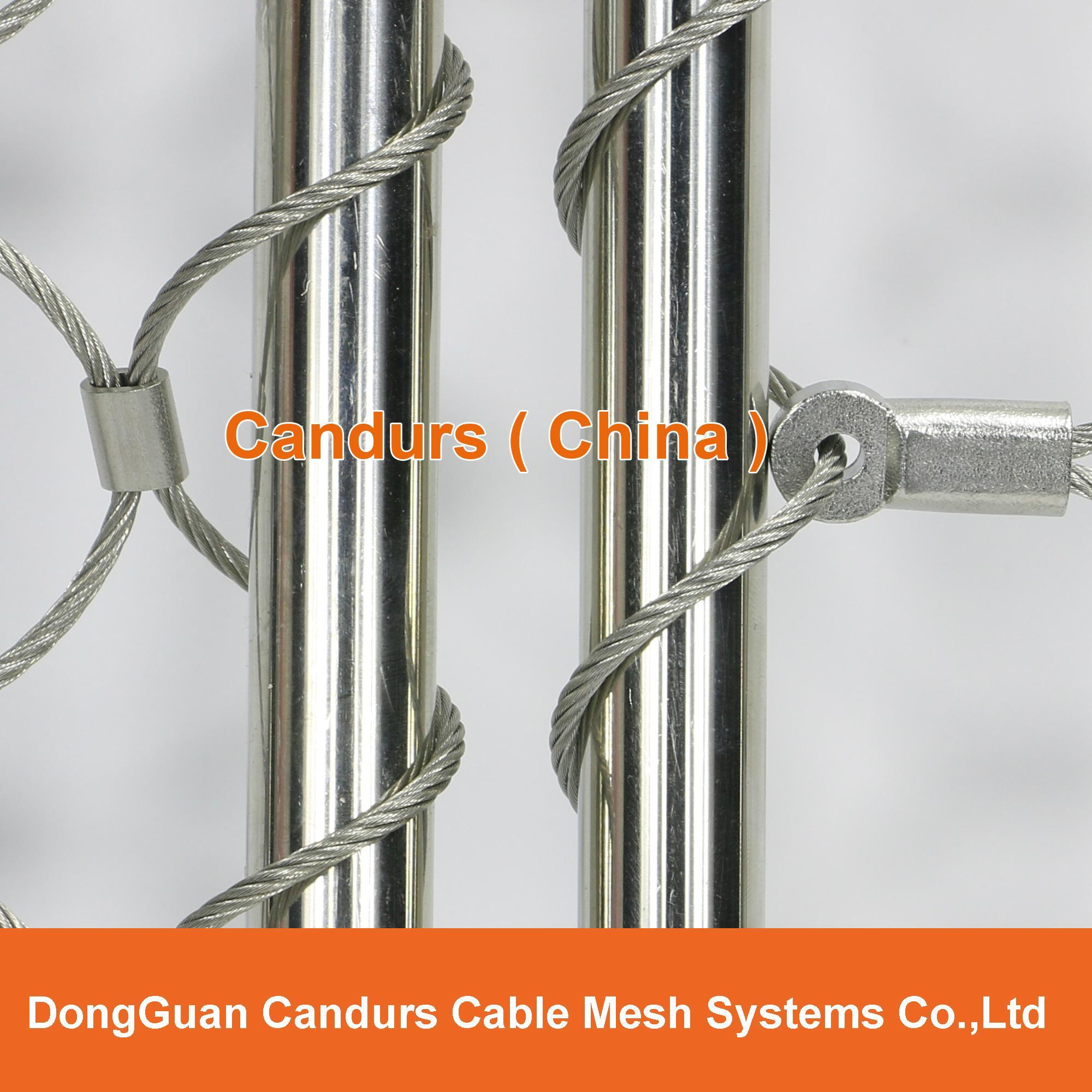 不锈钢绳楼梯装饰网 1
