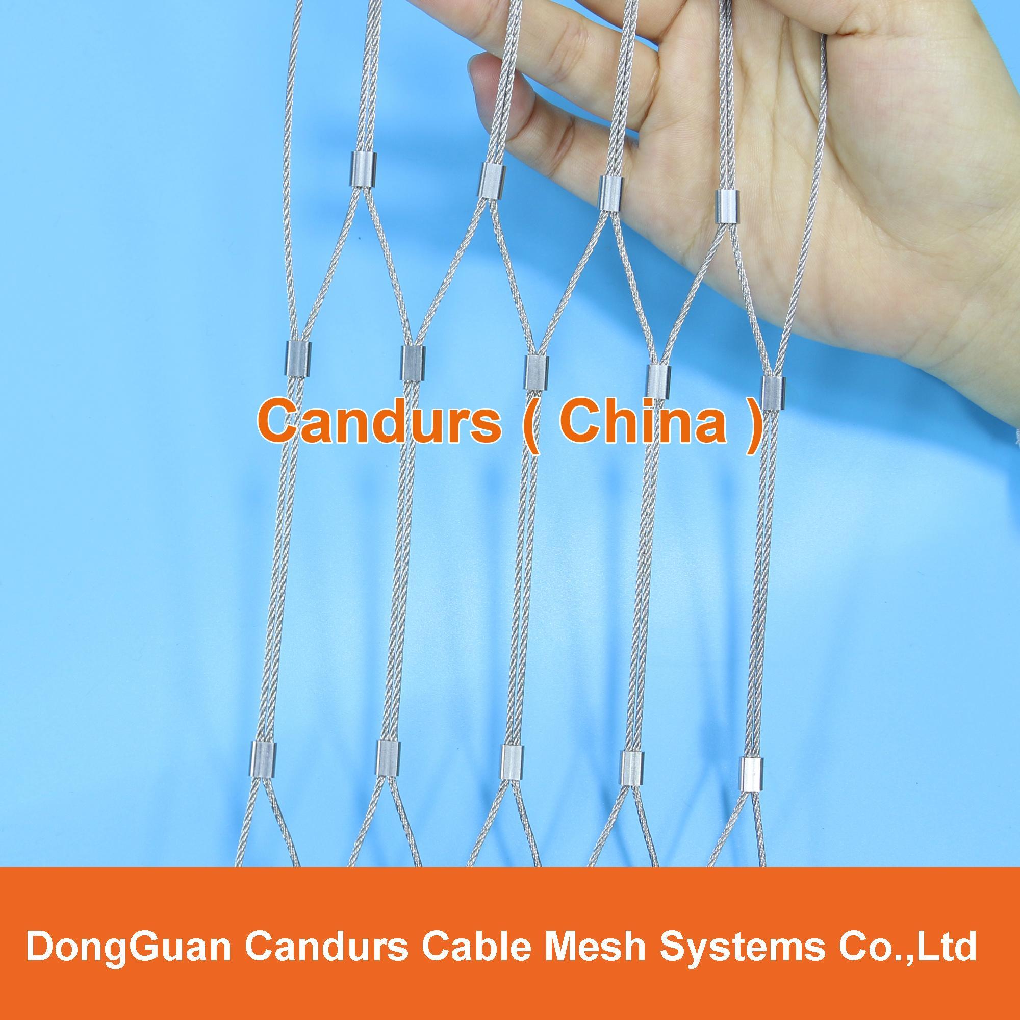 昌达不锈钢丝绳网——美标316不锈钢绳网 11