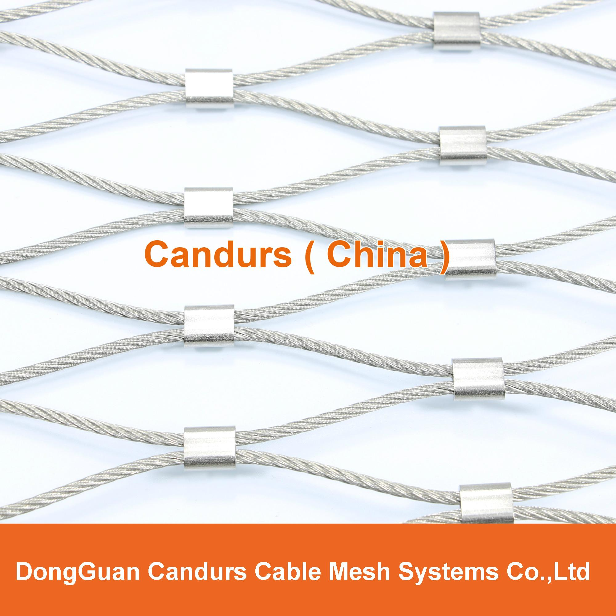 Diamond Ferruled Stainless Steel Wire Rope Cable Balustrade Railing Infill Mesh 6